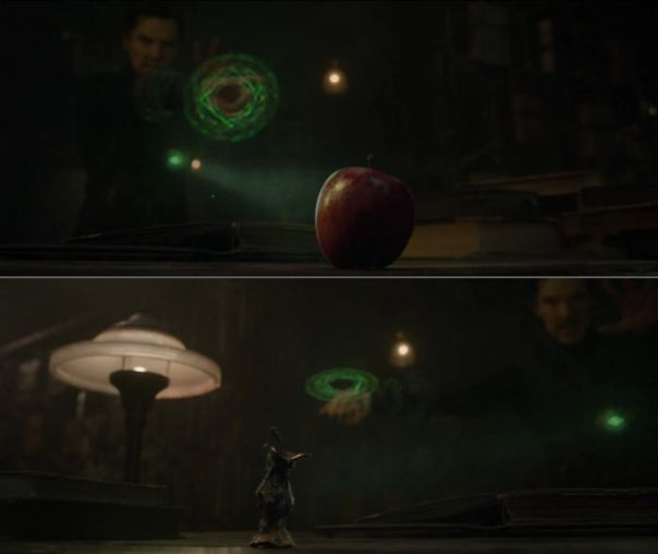 In Doctor Strange (2016), Doctor Strange Can Be Seen Defeating His Enemy, An Apple. This Is Because An Apple A Day Keeps The Doctor Away