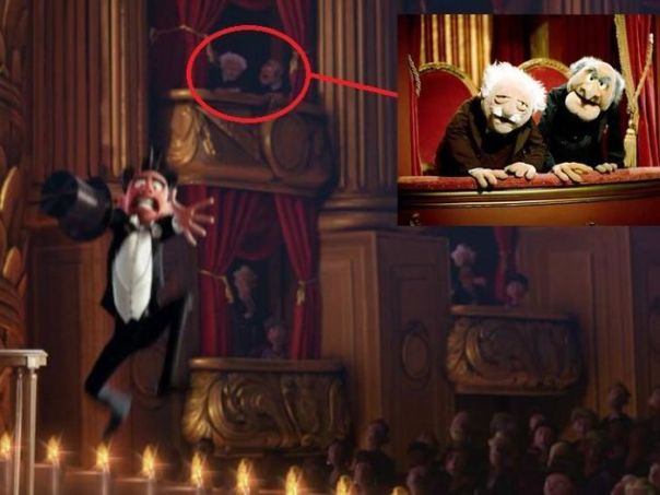 In The Pixar Short Film Presto (2008), Heckling Muppet Duo Statler And Waldorf Can Be Spotted In The Balcony