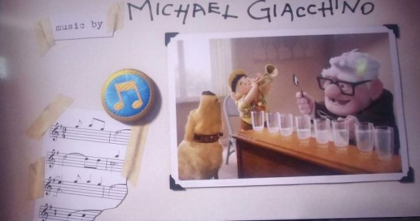 "In Disney/Pixar's Up (2009) During The End Credits, There Is A Sheet Music Clipping On The Composer Credit Page, This Is In Fact A Direct Clipping Of The Film's Main Theme ""Married Life"" By Michael Giacchino"