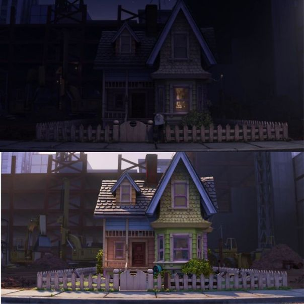 In Disney/Pixar's Up Carl Packed His Mailbox Before Leaving For Paradise Falls. The Mailbox Can Be Seen The Night Before Carl Leaves But Is Not Present The Morning That He Leaves