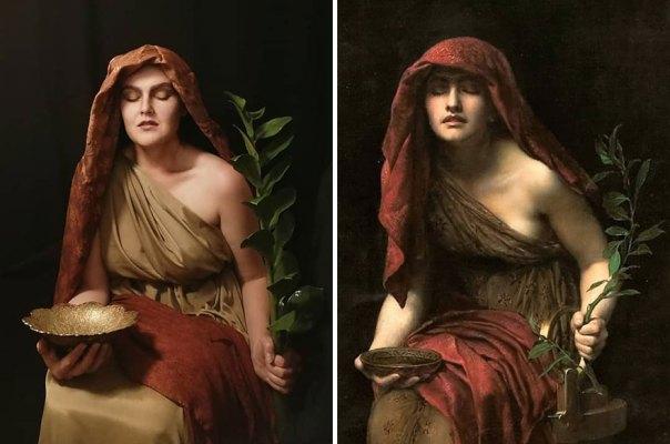 "John Collier ""Priestess Of Delphi"" (1891)"
