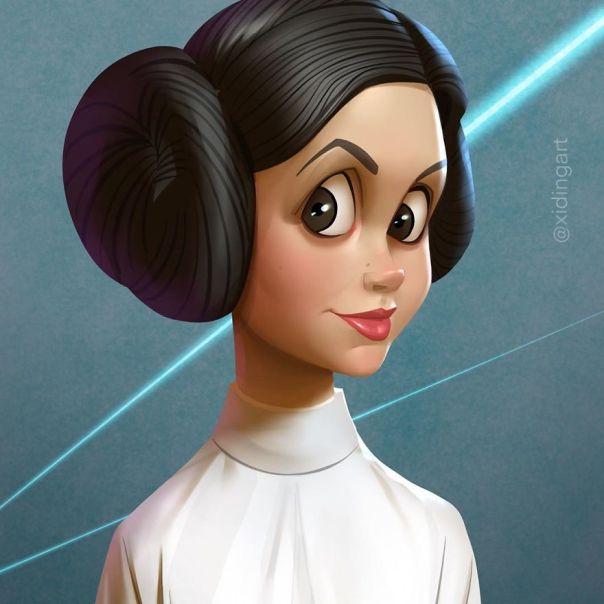 Carrie Fisher (Princess Leia)