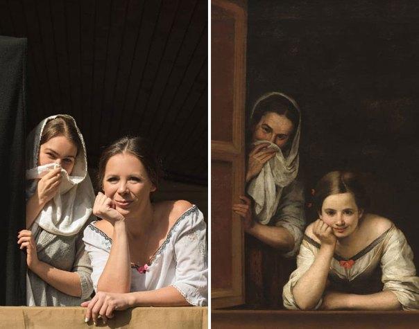 """Bartolomé Esteban Murillo """"Two Women At A Window"""" (1655-60)"""