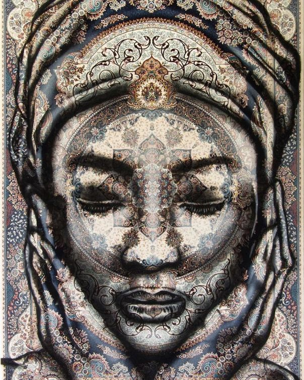 I Paint Women Portraits On Persian Rugs, Which Creates A Magical Fusion Of Ancient Culture And Contemporary Urban Art