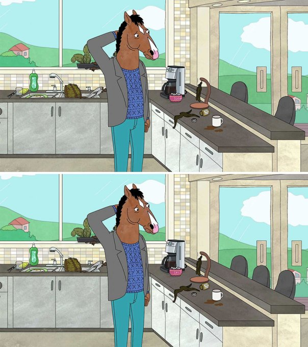"""Bojack Horseman"" (12 Differences)"