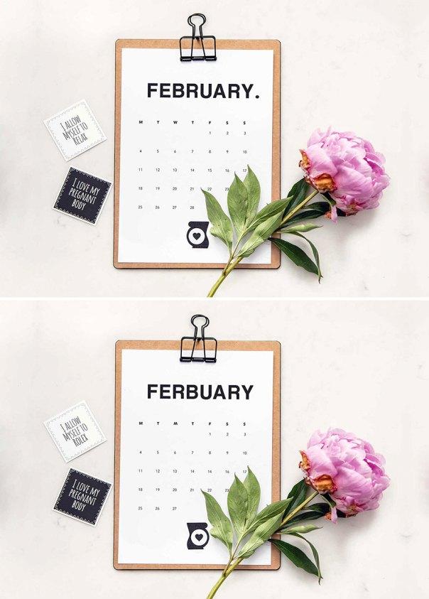 Calendar (9 Differences)