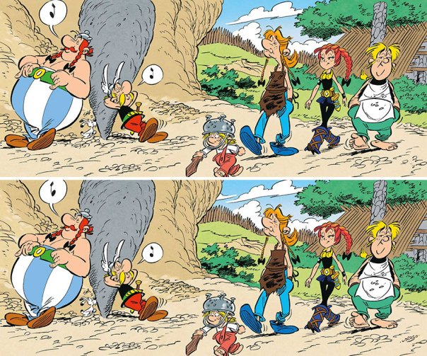 """Asterix & Obelix"" (11 Differences)"