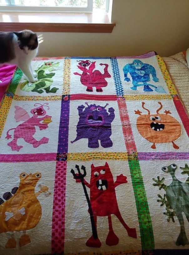 This Amazing Monster Quilt My Mother And I Found At A Kids Thrift Store For $4.99