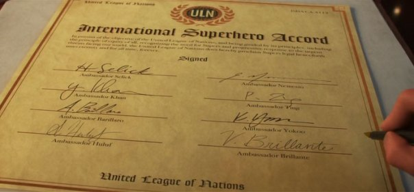 The Names On The International Superhero Accord Are All References To Notable Animators, Such As Henry Selick, Who Worked For Disney In The '70s And '80s