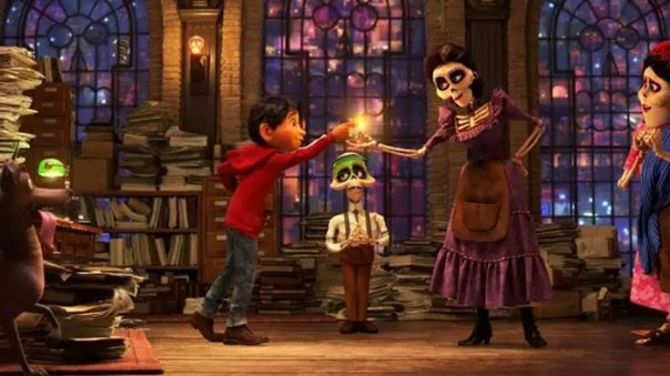 In Pixar's Coco, Inside The Family Affairs Office The Coils In The Light Bulbs Look Like Skulls