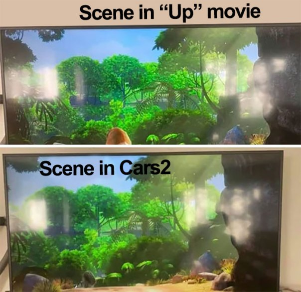 Kid Notices Something That Most Of Us Wouldn't Have: Up(2009), Cars 2 (2011)