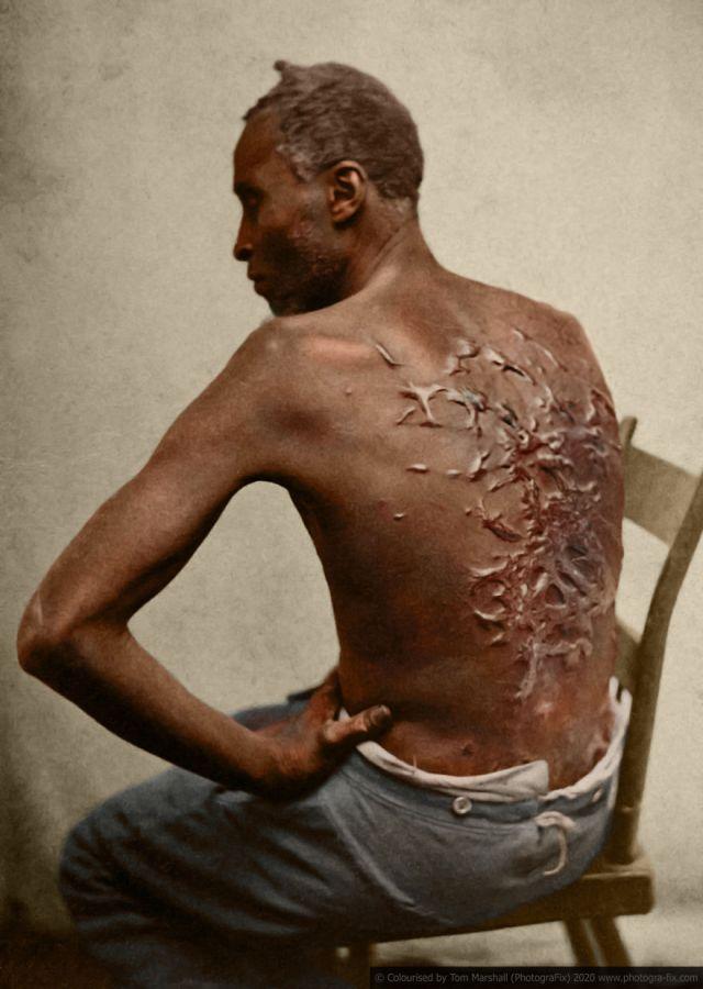 Kolorizirane fotografije kao prikaz strave robova u SAD-u 1