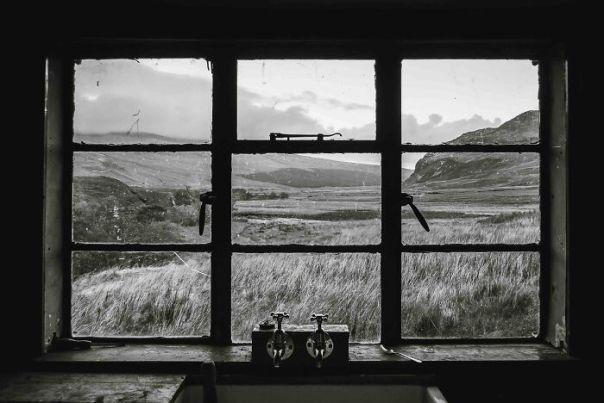 Black And White Commended: Tim Walton, 'Strabeg Bothy', Highland