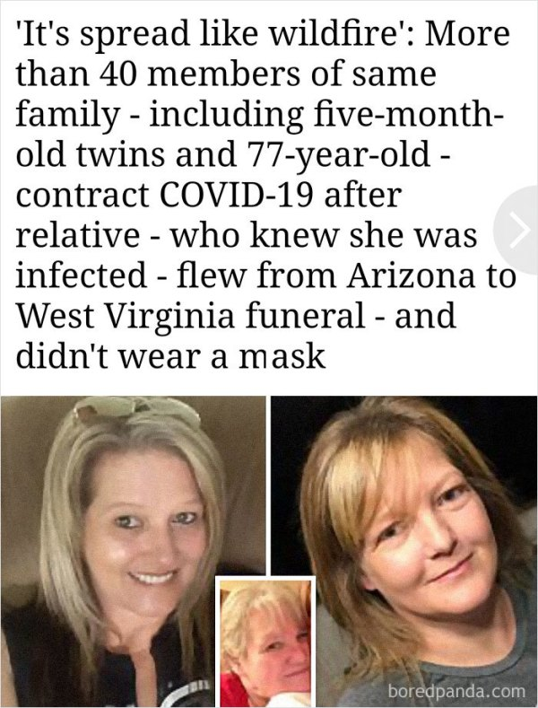 Karen Willing Infects 40 Members Of Her Own Family With Covid-19