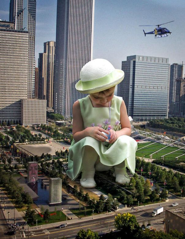 """What Would Happen If Giant People """"Invaded"""" Our Cities? Digital Artists Bring That Answer"""