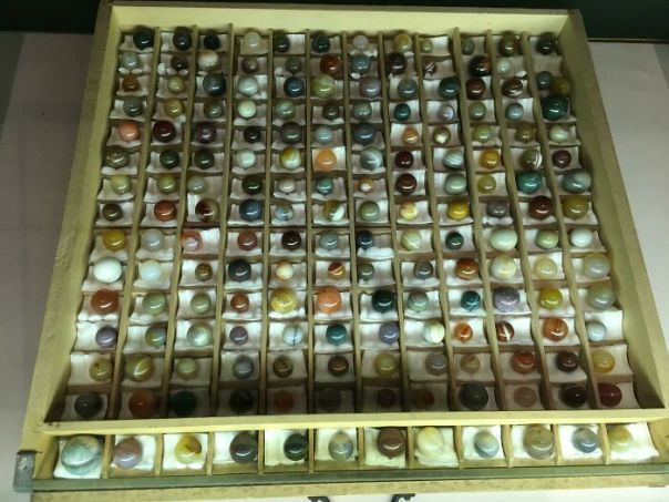 Marble Collection From The 1800s. All Made From Polished Semi-Precious Stones