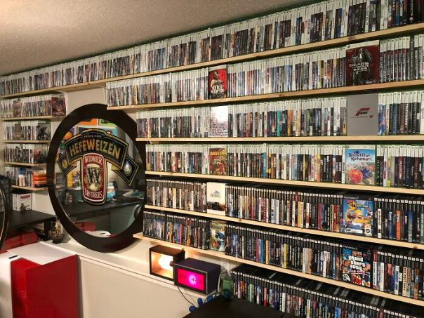My Game Collection Is Finally Out Of Storage! Wife Surprised Me By Building Shelves As An Anniversary Gift Today