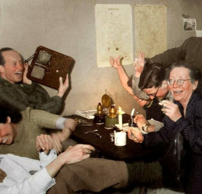 Members Of Dutch Resistance Celebrate The News Of Adolf Hitler's Death, April 1945