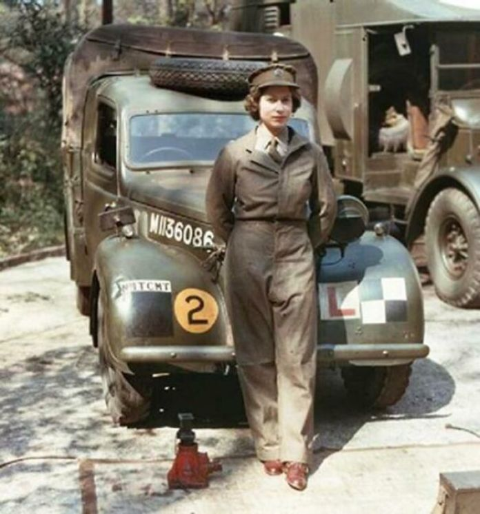 Young Queen Elizabeth As A Mechanic During WW2 (C. 1939)