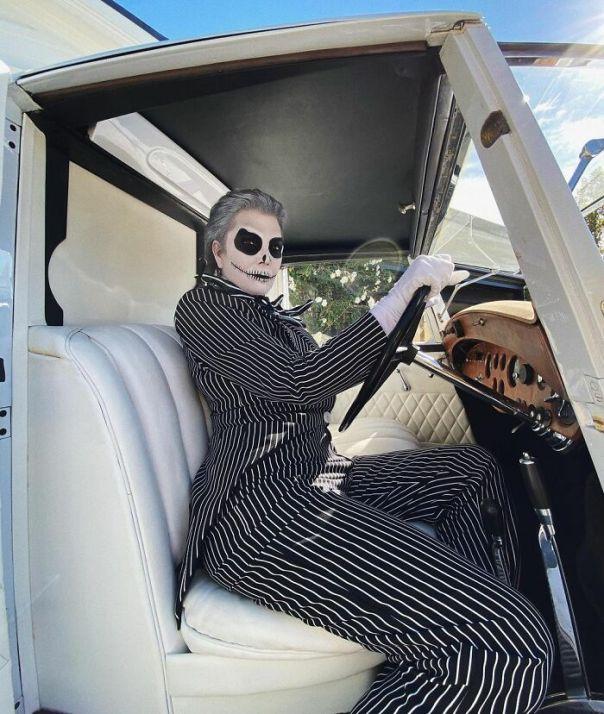 Kris Jenner As Jack Skellington