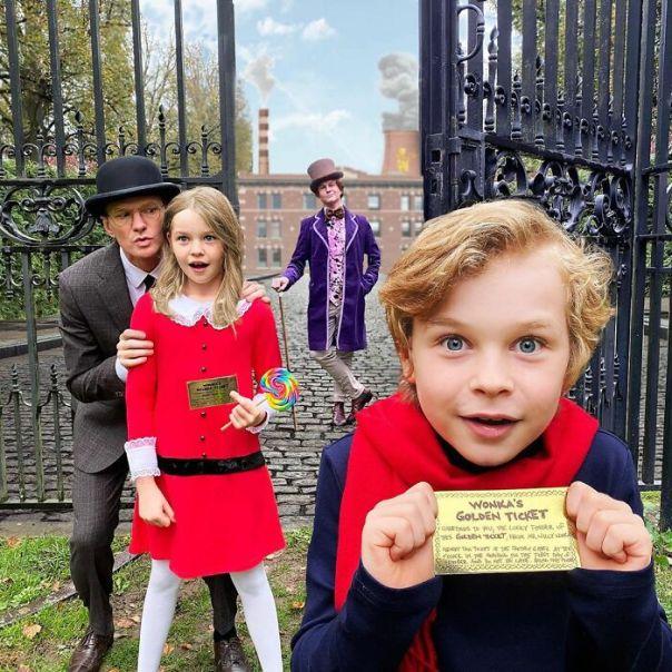 Neil Patrick Harris And David Burtka As Willy Wonka & The Chocolate Factory