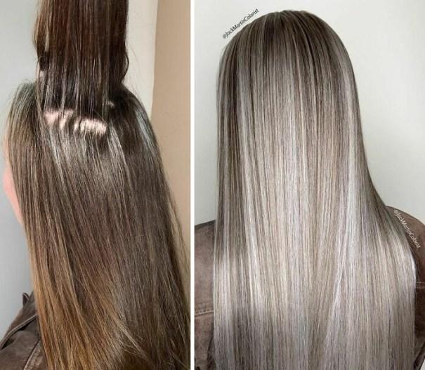 Gray Hair Makeover