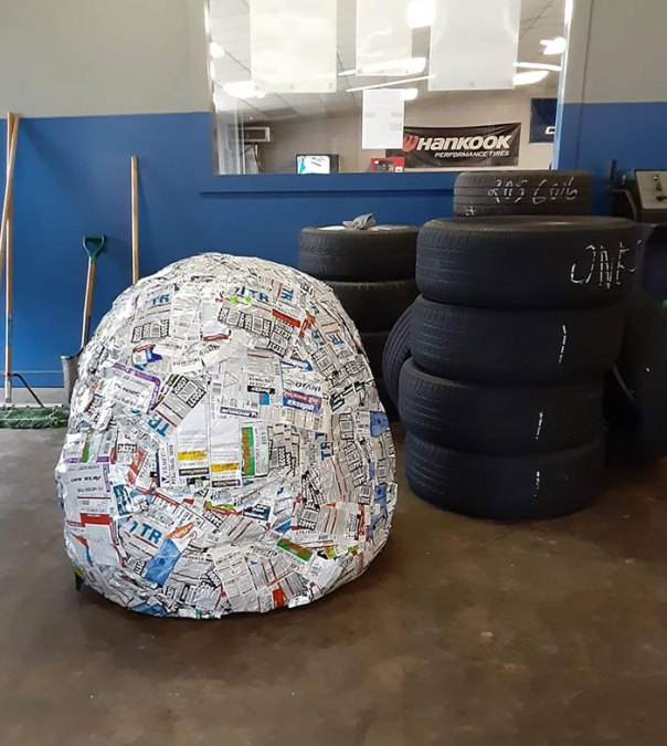 Our Tire Sticker Ball Turned 6 Today
