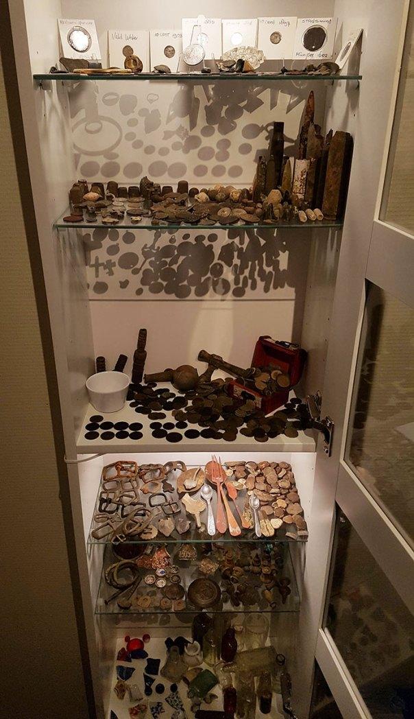 My Dad's Little Metal Detecting Museum