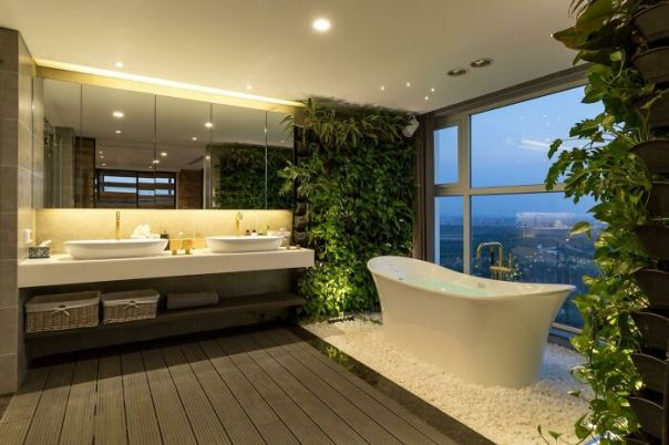 A Most Sexy And Serene Master Bathroom. Taiwan