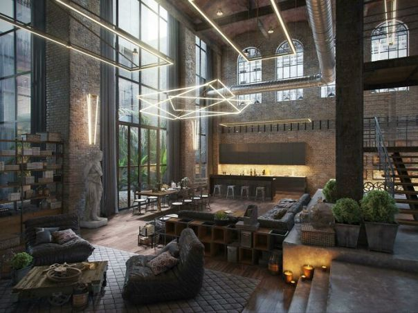 Industrial Loft Mixes Old With New | Render