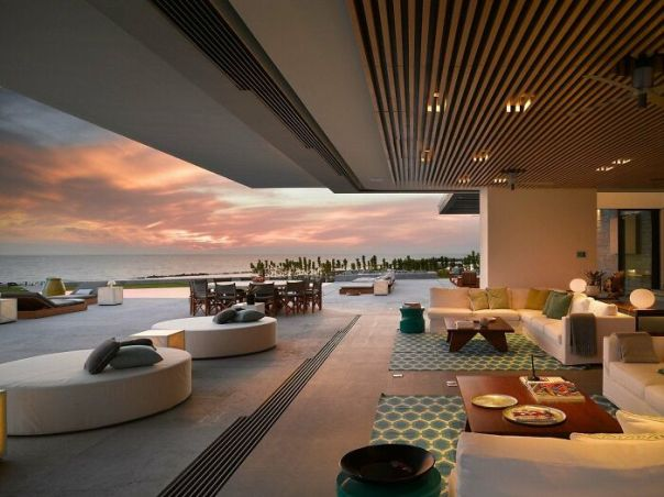 Spacious Indoor-Outdoor Living Area With An Amazing View Of The Sea In Puerto Vallarta, Jalisco, Mexico