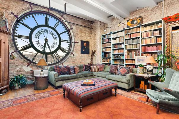 A Loft In An Old Warehouse, With Views Of The Brooklyn Bridge Through The Clock Window. Yours For Only $2.35 Million