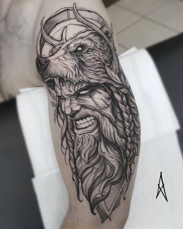 Viking Style Tattoo