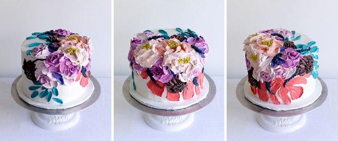 Whipped Cream Monstera Cake