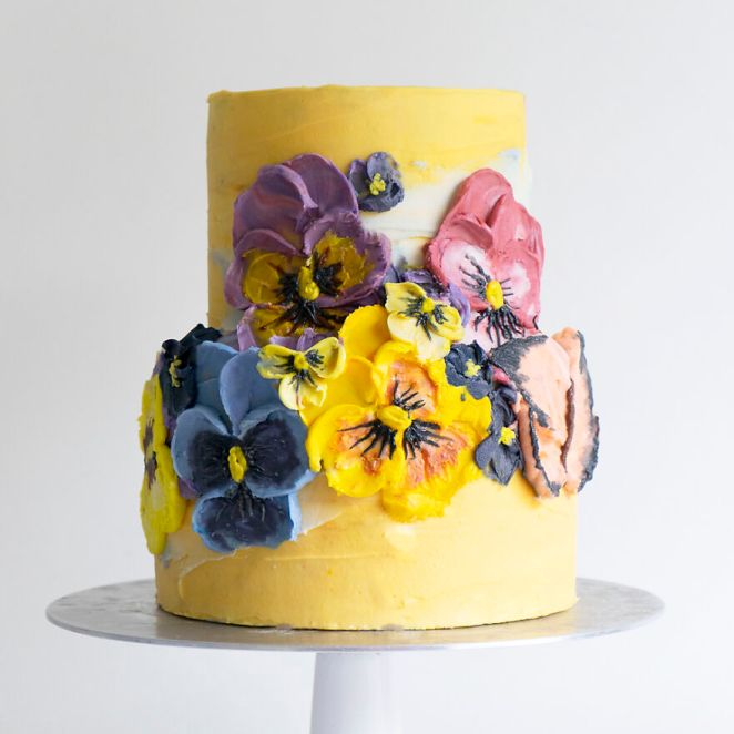 Pansy Cake!