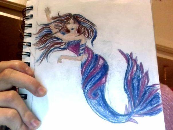 Pink And Blue Mermaid