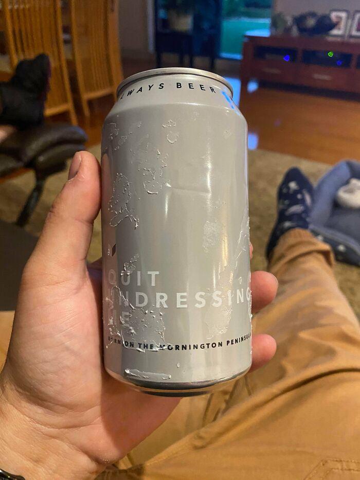 Under My Beer's Seemingly Easy To Peel Label