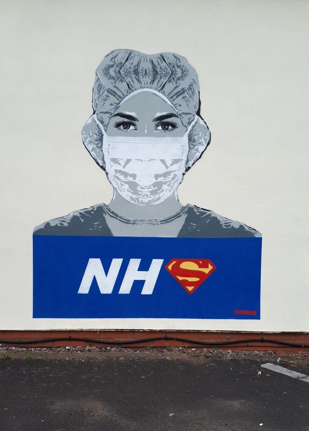 Nhs Heroes Painted In Worcester United Kingdom