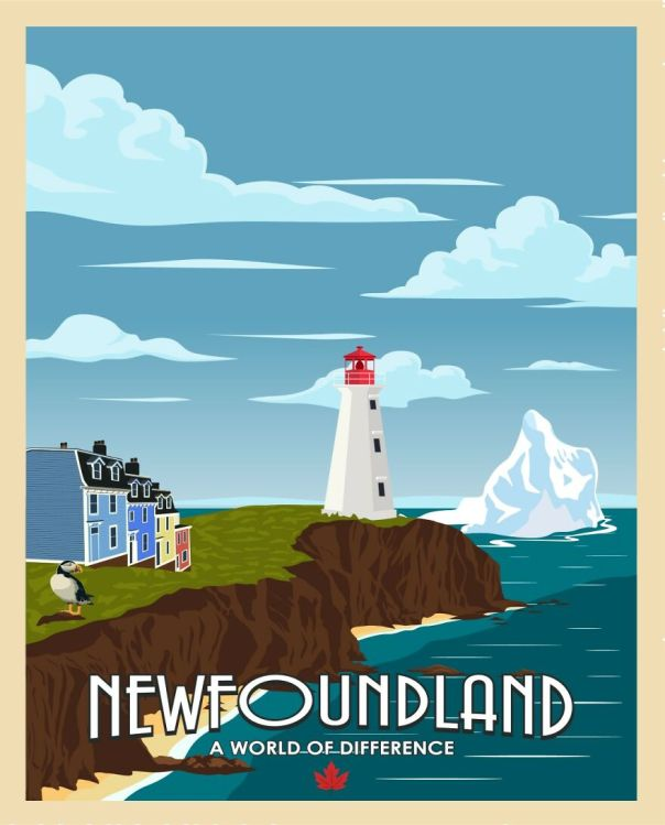 Sure They Might Make Jokes About Newfies , But Their Province Has One Of The Best Views To The Atlantic Ocean (With The Additional Wandering Iceberg On It's Way South )