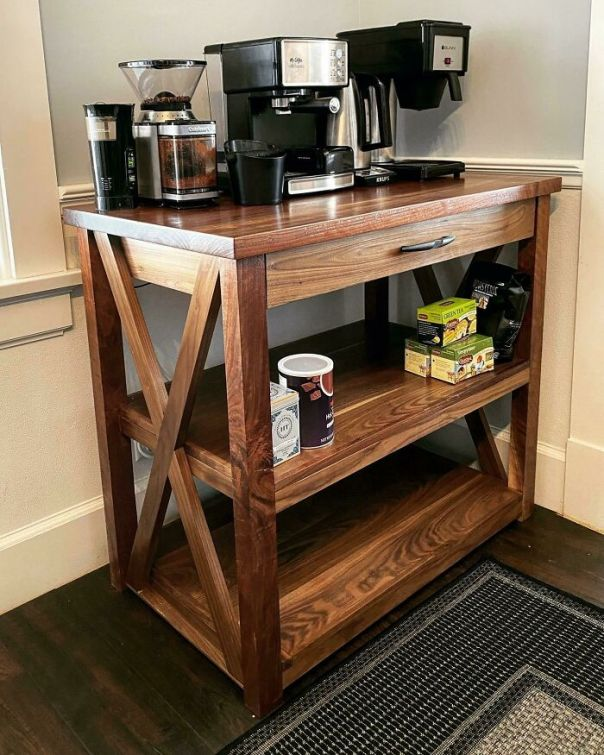 I Made A Walnut Coffee Bar