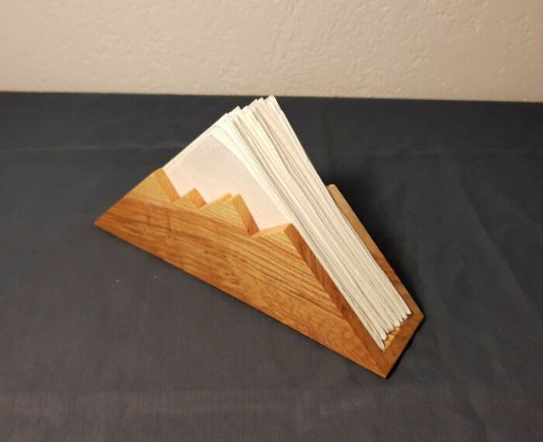 My Attempt At The Mountain Napkin Holder. It's A Nice Project To Use Up Some Scraps