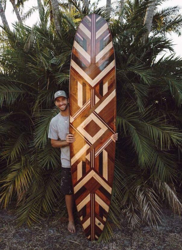 9' Hollow Wooden Longboard
