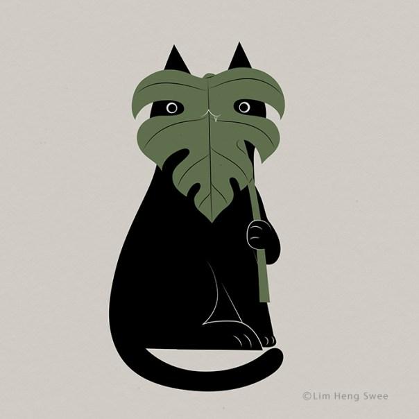 Cat + Monstera = Meowstera!