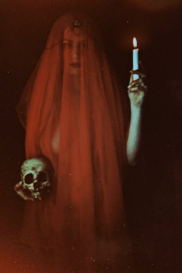 "Courtney Brooke ""Crimson Light, Self Portrait"" Photograph"