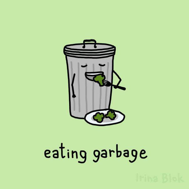 Eating Garbage
