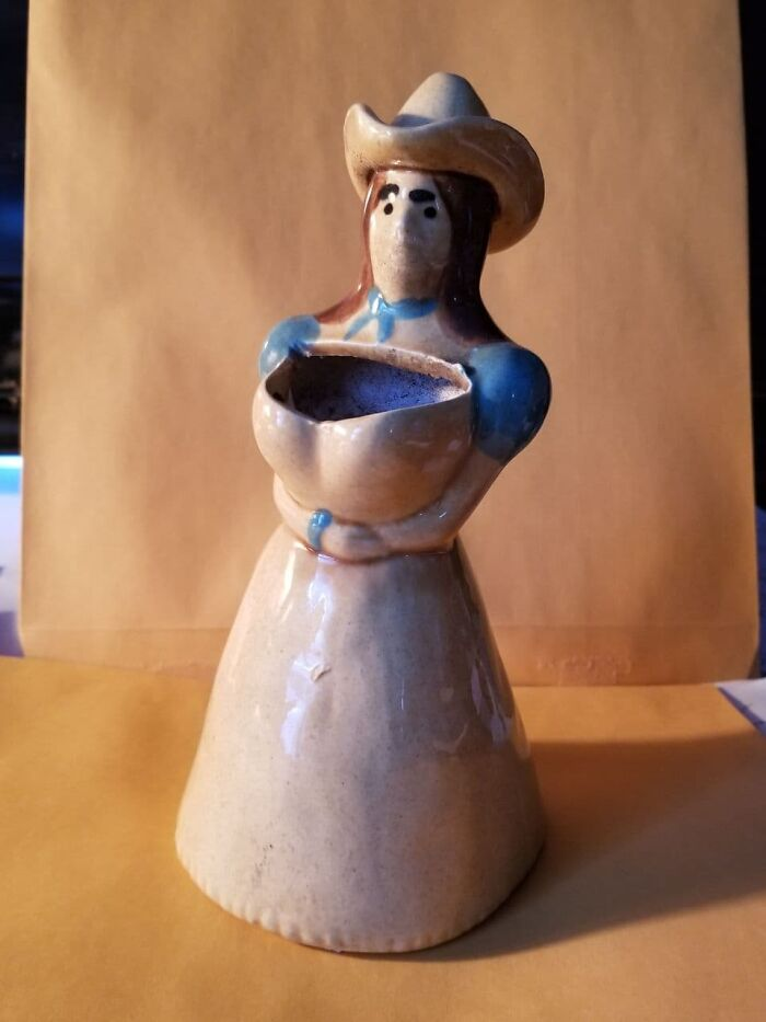 My Cowgirl Planter, Yes, You Plant In Her Boobs, Fifty Cents!