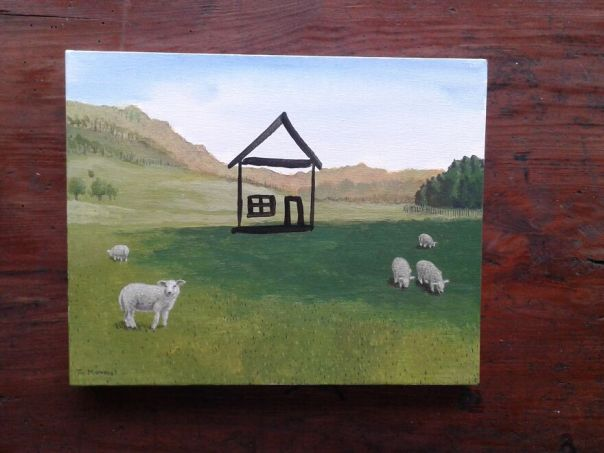 House With Sheep