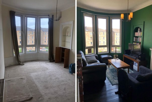 Before And After Of My Very Own Living Room