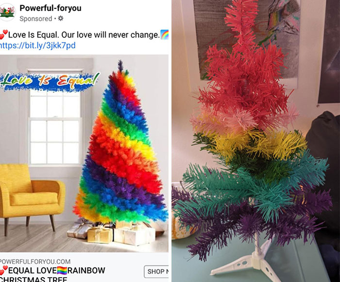 I Ordered A 6ft Tall Rainbow Tree From A Facebook Ad And This Is What Showed Up. I'm Crying From Laughing So Hard, I've Never Had This Happen In Real Life