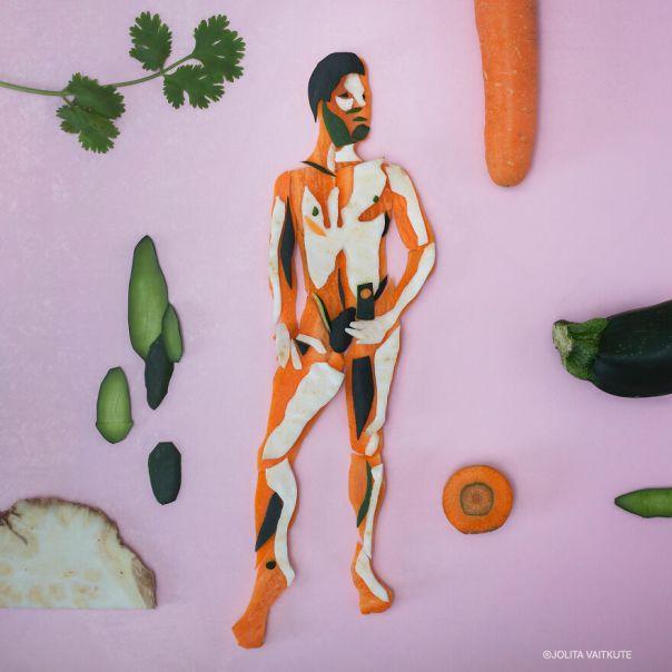 Selfies I Received. Carrot/Zucchini/White Radish/Butter Pumpkin